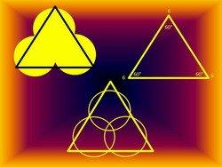 Sun triangle and 666