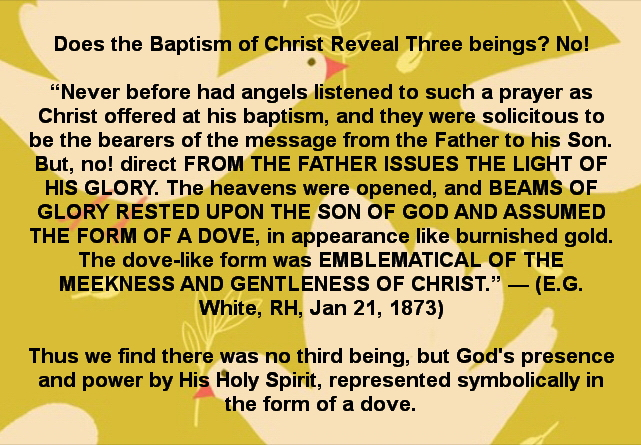 Was there three at the Baptism of Christ?