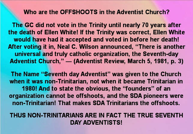 Who are the offshoots in tbhe Sevewnth day Adventist Church?