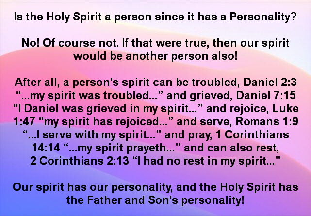 Personality of a spirit