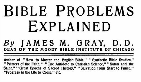 Bible problems James M. Gray