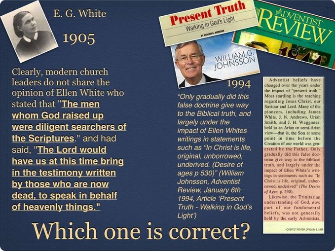 Ellen White and William Johnsson Adventist Review