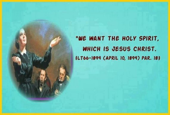 We want the Holy Spirit which is Jesus Christ