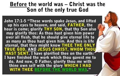 Jesus Son of God before the world was