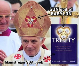 Triquetra on Papal mitre